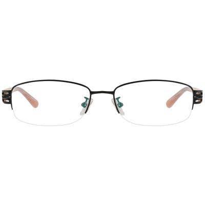 G4U-277 Rectangle Eyeglasses 125451 (Black-Printed1)