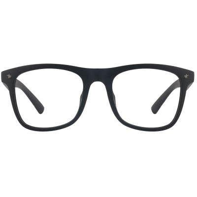 G4U SP8609-2 Rectangle Eyeglasses 125598 (Black-Printed2)