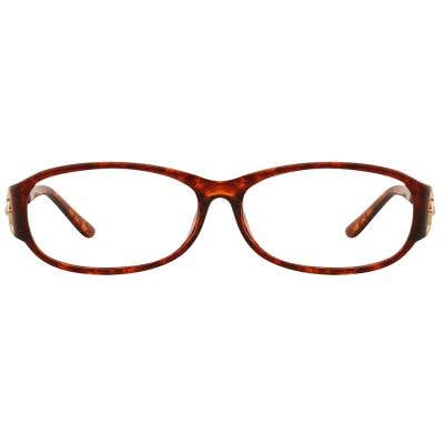 G4U JCB028 Rectangle Eyeglasses 127045 (Tortoise-Gold)