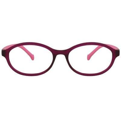Oval Kids Eyeglasses 127830 (Purple-Pink)