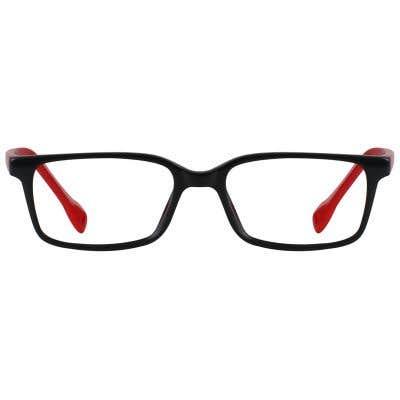 Rectangle Eyeglasses 131611-c-Black-Red