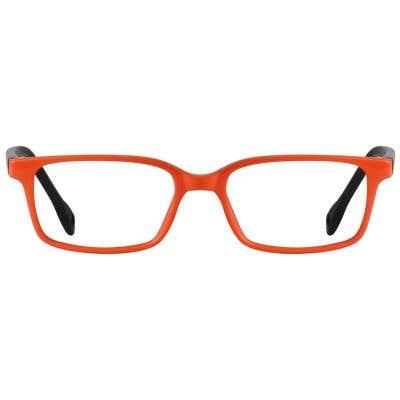 Rectangle Eyeglasses 131611-c-Orange-Black