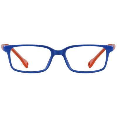Rectangle Eyeglasses 131611-c-Blue-Orange